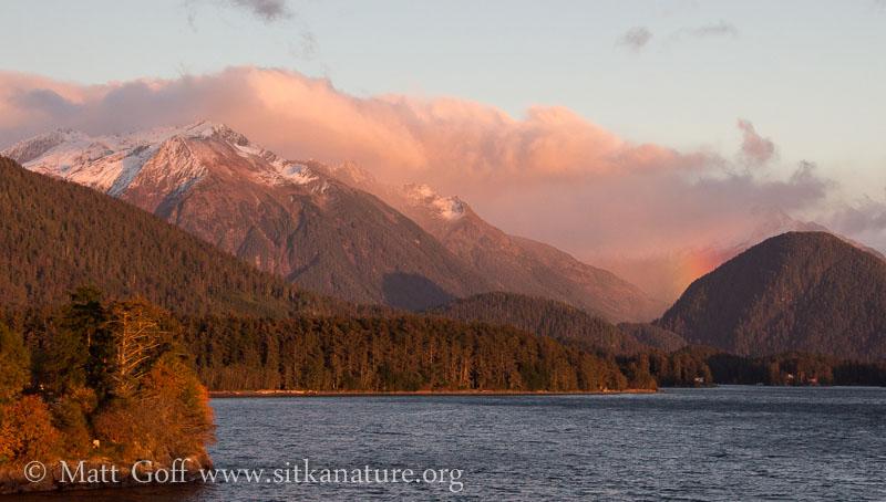 Bear Mountain and Evening Rainbow