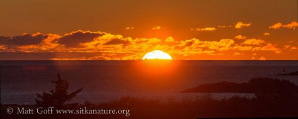 Sunset behind Vitskari Island
