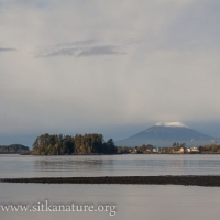 First Snow on Mt. Edgecumbe