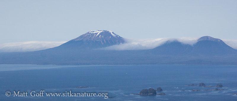 Marine Stratus around Mt. Edgecumbe