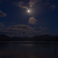 Moon over Crescent Bay