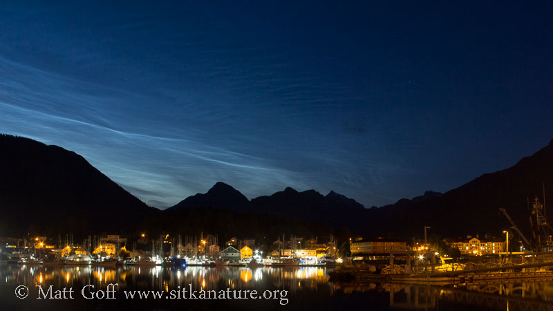 Noctilucent Clouds over the Sisters