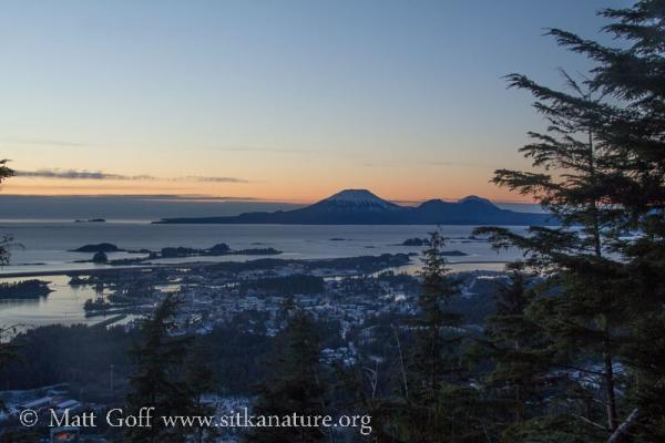 Sunset View of Mt. Edgecumbe