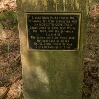 Mosquito Cove Trail Plaque
