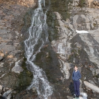 Rowan at Bear Mountain Waterfall