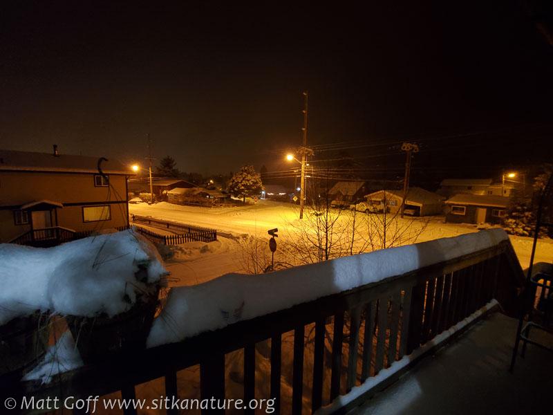 Snow on the Rail