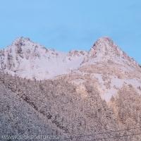 Harbor Mountain alpenglow